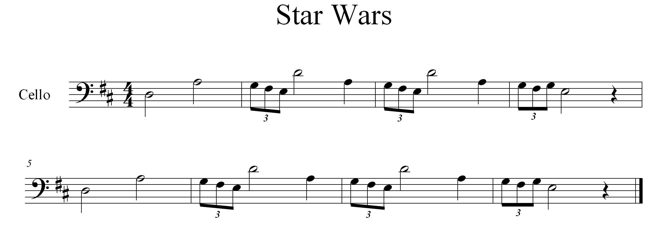 star wars theme song piano pdf