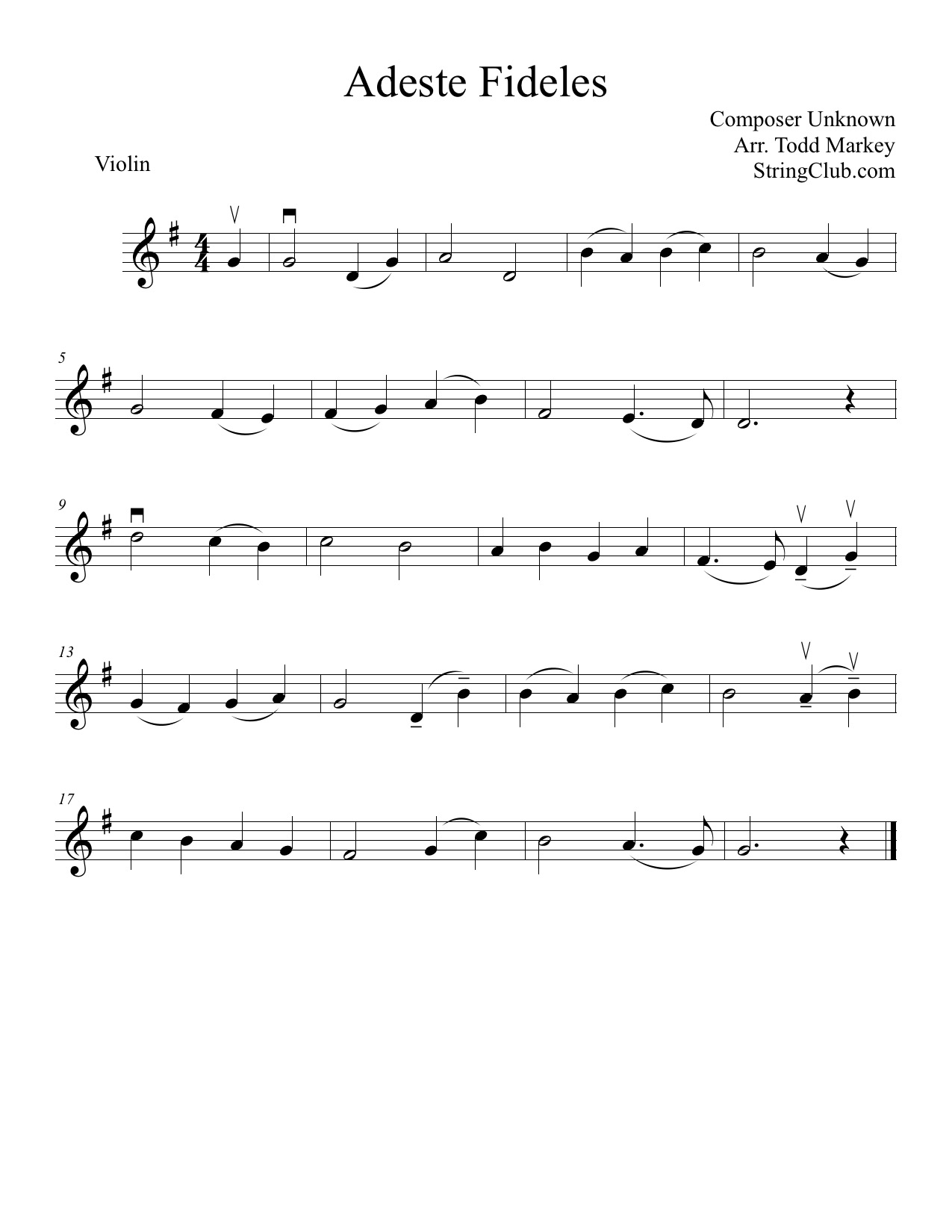 Learn O Come All Ye Faithful Violin How To Play Tutorial With
