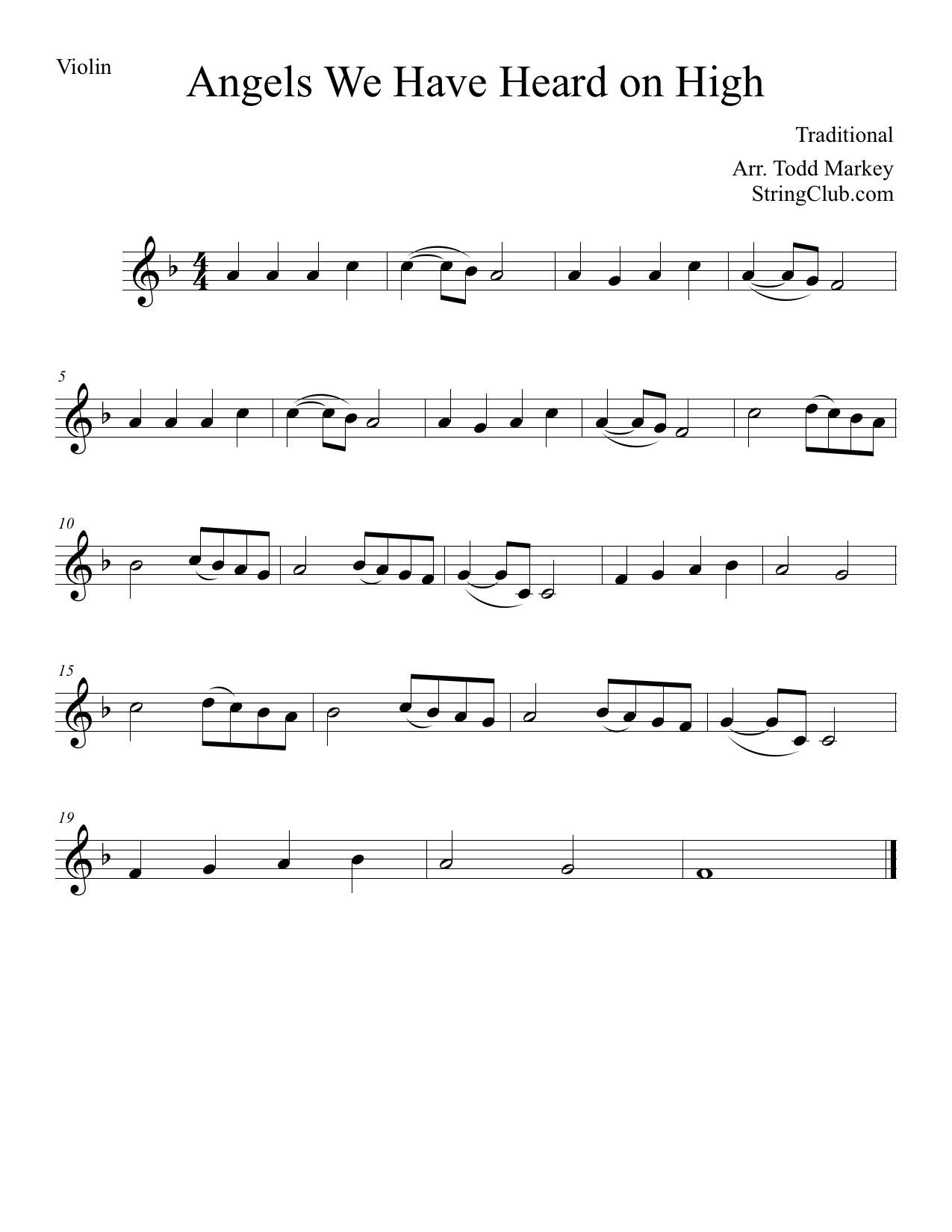 angels we have heard on high lyrics pdf