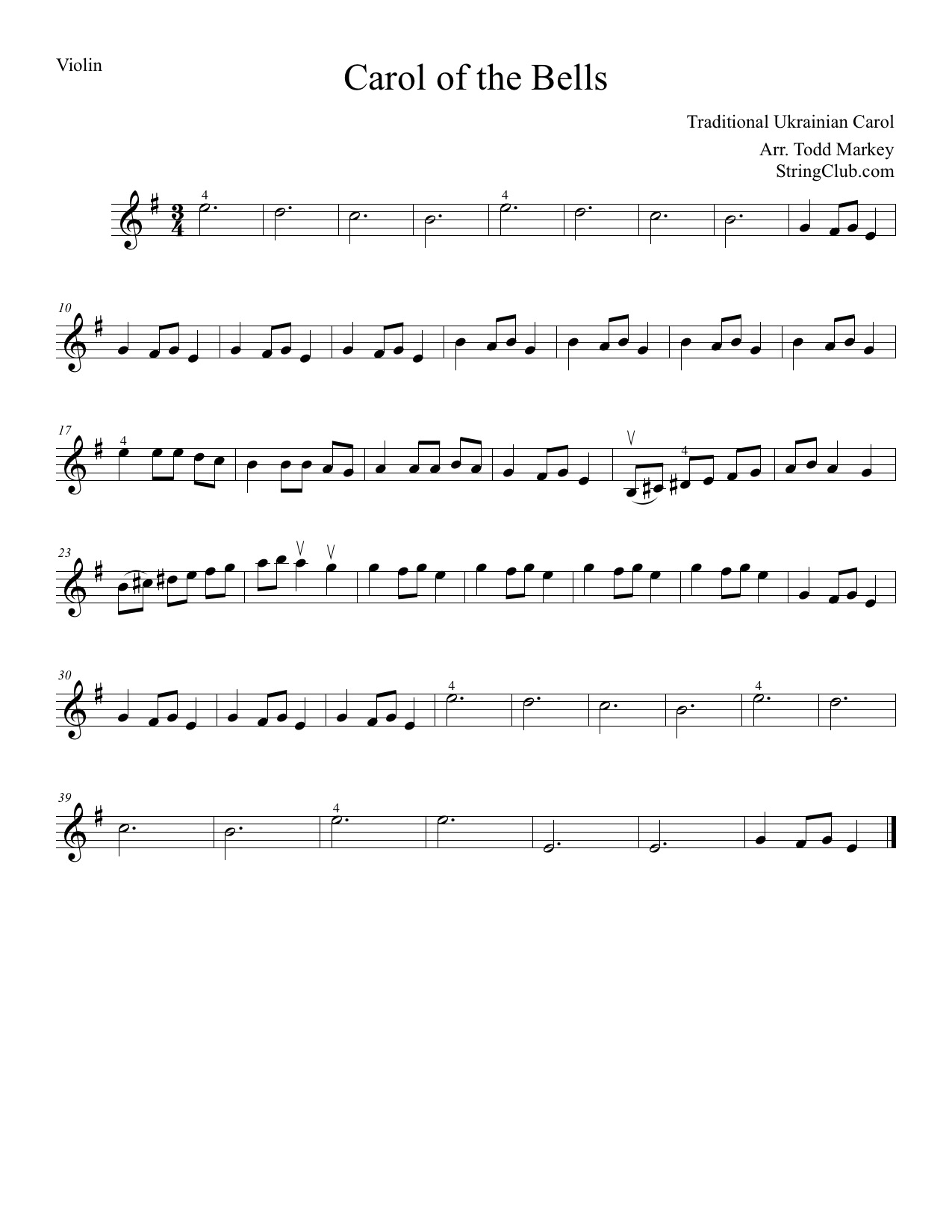 Learn carol of the bells violin how to play tutorial with notes carol of the bells sheet music hexwebz Image collections