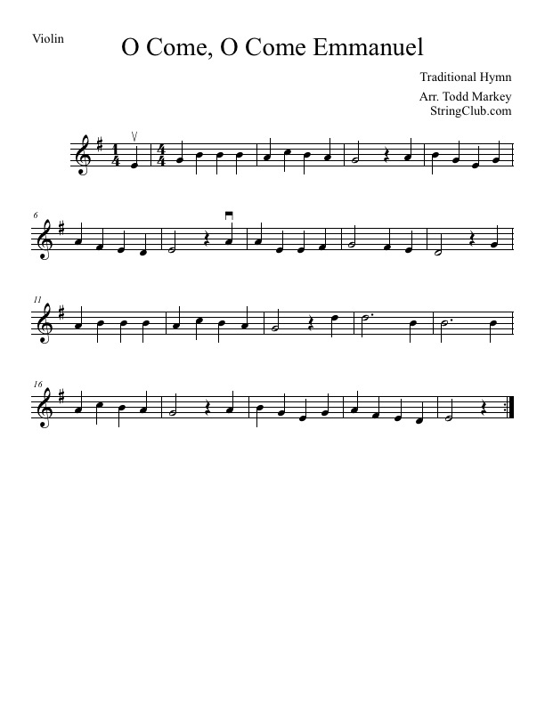Lyric emmanuel lyrics : Learn O Come O Come Emmanuel Violin - How To Play Tutorial With ...