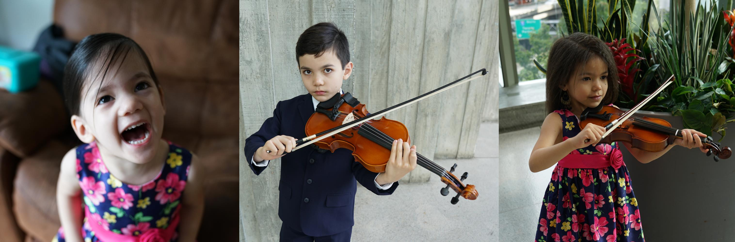 Kids loving live and loving violin.  Kids grow up smarter with string instrument training.