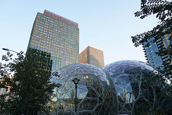 Amazon Seattle Headquarters Downtown Seattle - With Amazon Biospheres