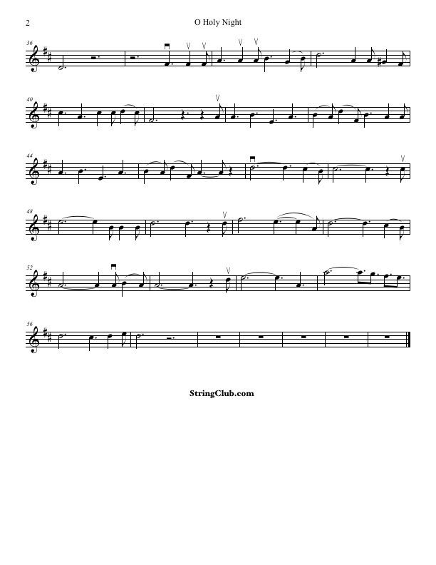 Learn O Holy Night Violin How To Play Tutorial With Notes Stringclub